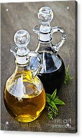 Oil And Vinegar Acrylic Print by Elena Elisseeva