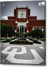 Oklahoma Memorial Stadium Acrylic Print by Center For Teaching Excellence