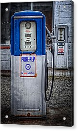 Old And Rusty  Pump  Acrylic Print by Emmanuel Panagiotakis