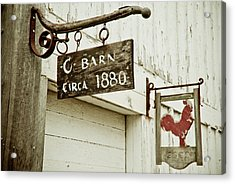 Old Barn Acrylic Print by Andrew Kubica