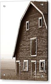 Old Barn Front Acrylic Print by Mario Brenes Simon
