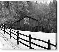 Old Barn In Kentucky Acrylic Print by Dan Sproul