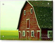 Old Barn Acrylic Print by Mario Brenes Simon
