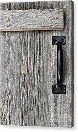 Old Barn Wood Door Acrylic Print by Elena Elisseeva