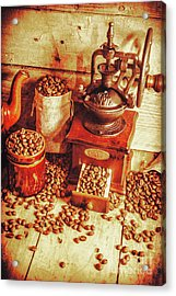 Old Bean Mill Decor. Kitchen Art Acrylic Print by Jorgo Photography - Wall Art Gallery