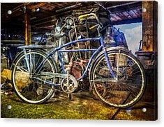 Old Blue Acrylic Print by Debra and Dave Vanderlaan
