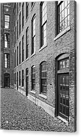 Old Brick Warehouse Black And White Acrylic Print by Edward Fielding