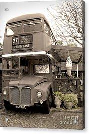 Old Bus Cafe Acrylic Print by Eena Bo