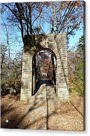 Old Ccc Swinging Bridge Acrylic Print by Joel Deutsch