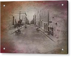 Old Chicago 01 Street View Textured Acrylic Print by Thomas Woolworth