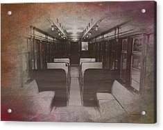 Old Chicago 05 Trains Textured Acrylic Print by Thomas Woolworth