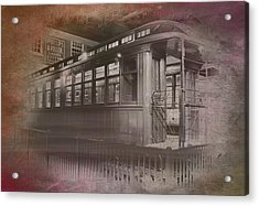 Old Chicago 06 Trains Textured Acrylic Print by Thomas Woolworth