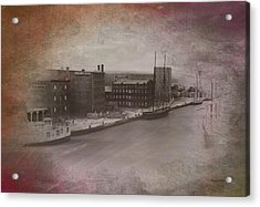 Old Chicago 11 River View Textured Acrylic Print by Thomas Woolworth