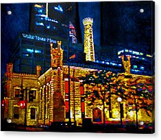 Old Chicago Pumping Station Acrylic Print by Michael Durst