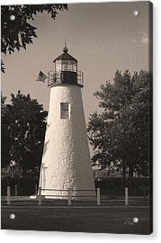Old Concord Point Light Acrylic Print by Gordon Beck