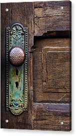 Old Door Knob Acrylic Print by Joanne Coyle