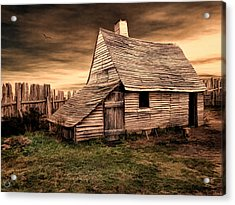 Old English Barn Acrylic Print by Lourry Legarde