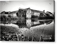 Old Farm And Pond In France Acrylic Print by Olivier Le Queinec
