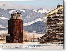 Old Farm Buildings Acrylic Print by Sue Smith