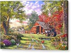 Old Farmhouse Acrylic Print by Dominic Davison