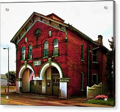 Old Firehouse No. 10 Acrylic Print by Julie Dant