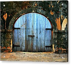 Old Fort Doors Acrylic Print by Perry Webster