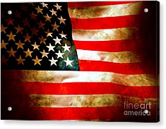 Old Glory Patriot Flag Acrylic Print by Phill Petrovic