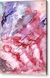 Old Glory Acrylic Print by Roger Parnow