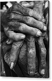 Old Hands 3 Acrylic Print by Skip Nall
