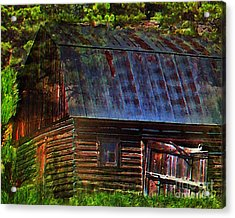 Old Horse Barn In The Pines Acrylic Print by Terril Heilman