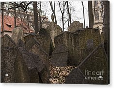 Old Jewish Cemetery In Prague Acrylic Print by Juli Scalzi