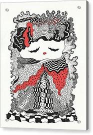 Old Lady Acrylic Print by Fla Arakaki