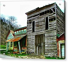 Old Leavenworth Indiana Ghost Town II Acrylic Print by Julie Dant
