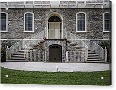 Old Main Penn State Stairs  Acrylic Print by John McGraw