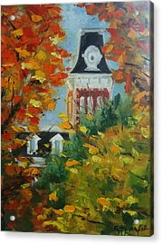 Old Main Acrylic Print by Stacy Spangler
