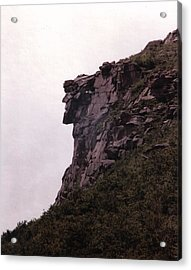 Old Man Of The Mountain Acrylic Print by Wayne Toutaint