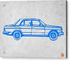 Old Mercedes Benz Acrylic Print by Naxart Studio