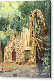 Acrylic Print featuring the painting Old Mill At Berry College by Rodney Campbell