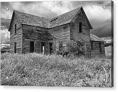 Old Montana Farmhouse Acrylic Print by Sandra Bronstein