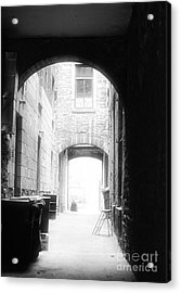 Old Montreal Alley Acrylic Print by John Rizzuto