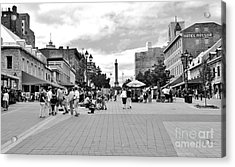 Old Montreal Jacques Cartier Square Acrylic Print by Reb Frost