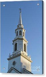 Old New England Church Steeple Concord Acrylic Print by Edward Fielding