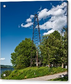 Old Oil Derrick In West Virginia Acrylic Print by Mountain Dreams