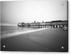 Old Orchard Beach Pier Acrylic Print by Eric Gendron