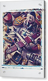 Old Plane And Other Toys Acrylic Print by Garry Gay