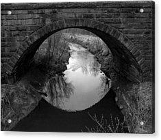 Old Railroad Bridge Acrylic Print by Michael L Kimble