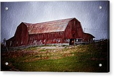 Old Red Barn Acrylic Print by Maggie Terlecki
