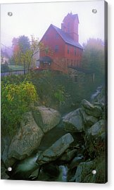 Old Red Mill Jericho Vermont Acrylic Print by John Burk