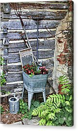 Old Rural Garden Scene Acrylic Print by Linda Phelps