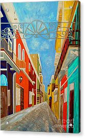 Old San Juan Acrylic Print by Eloise Schneider